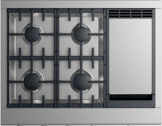 """Fisher & Paykel Professional 36"""" Gas Rangetop-Stainless Steel-CPV2-364GDL N"""