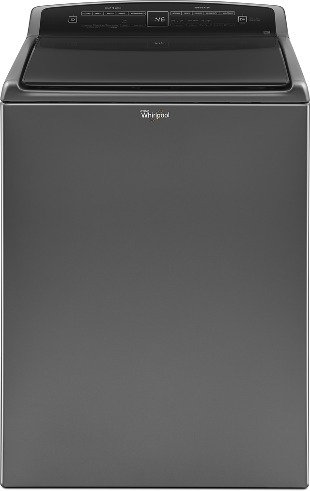 Whirlpool® 4.8 Cu. Ft. Chrome Shadow Top Load Washer-WTW7500GC