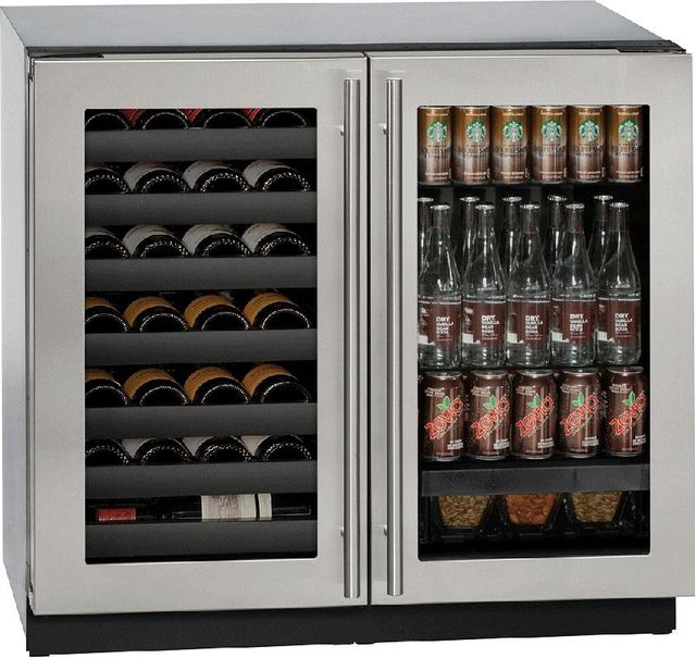 U-Line® 3000 Series 7.0 Cu. Ft. Stainless Steel Beverage Center-3036BVWCS-00B