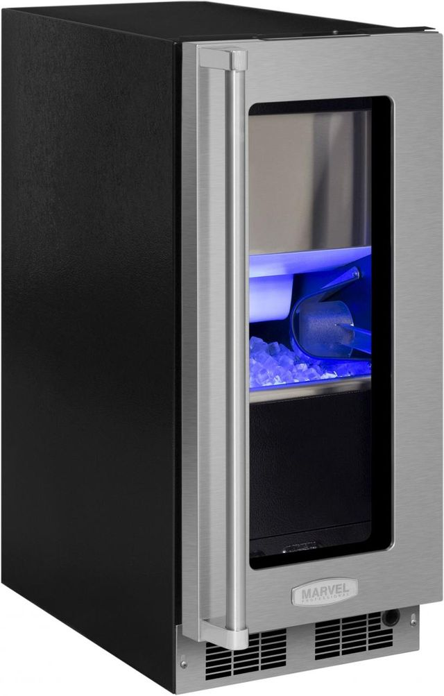 """Marvel Professional Series 15"""" Clear Ice Machine-Stainless Steel Frame-MP15CPG2RS"""