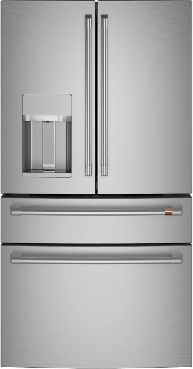 Réfrigérateur à portes françaises de 36 po Cafe™ de 27,6 pi³ - Acier inoxydable-CVE28DP2NS1