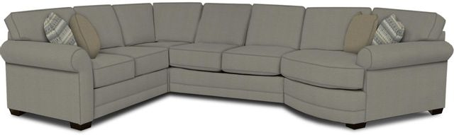 England Furniture Co. Brantley 4 Piece Culpepper Cement/Alvaro Mineral/Sydens Gray Sectional-5630-28-22-43-95+8612+8381+8601