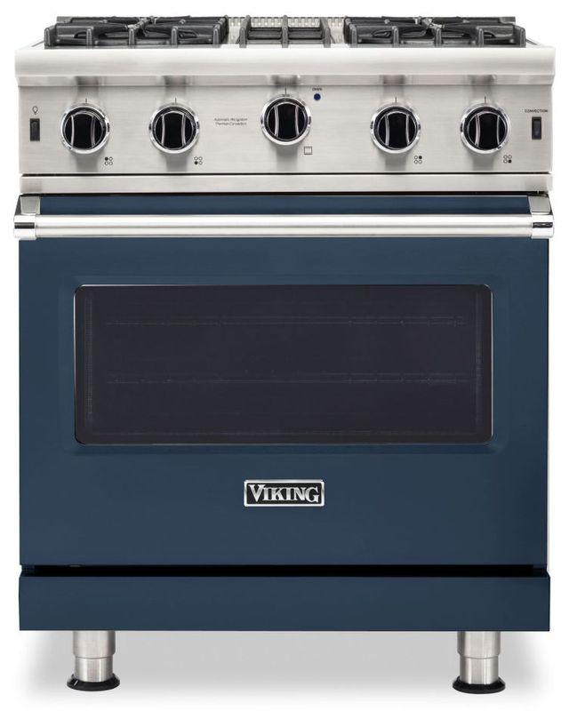 "Viking® 5 Series 30"" Slate Blue Pro Style Liquid Propane Gas Range-VGIC53024BSBLP"