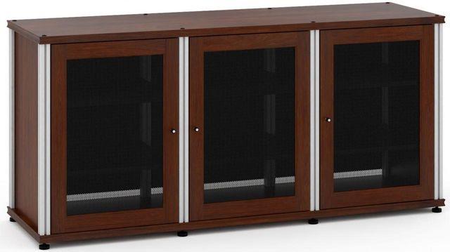 Salamander Designs® Synergy Model 337 AV Cabinet-Dark Walnut/Aluminum-SB337W/A