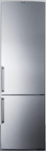 Summit® 12.5 Cu. Ft. European Counter Depth Bottom Freezer Refrigerator-Stainless Steel-FFBF181SSIM