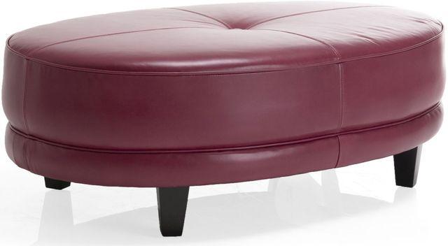 Decor-Rest® Furniture LTD 3552 Red Oval Leather Ottoman-3552-OTTOMAN