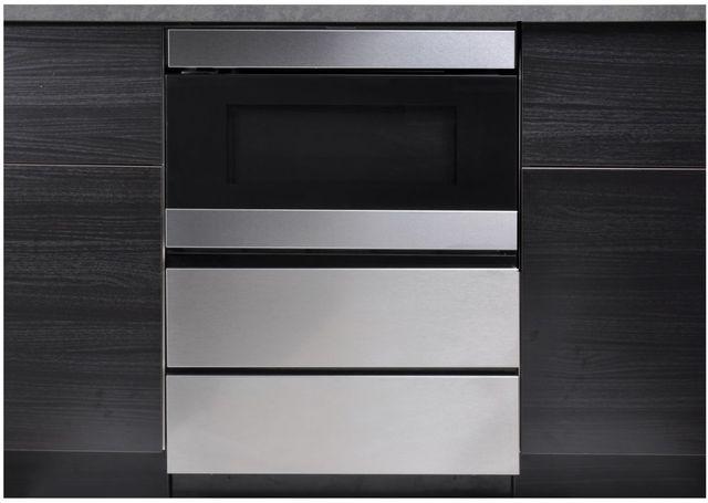 "Sharp® 24"" Stainless Steel Under the Counter Microwave Drawer Oven Pedestal-SKMD24U0ES"