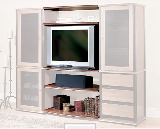 Salamander Designs® Synergy Bridge Three Black AV Cabinet Accessory-SB3/B