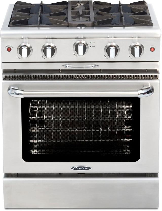 """Capital Culinarian 30"""" Stainless Steel Free Standing Gas Range-MCOR304L"""