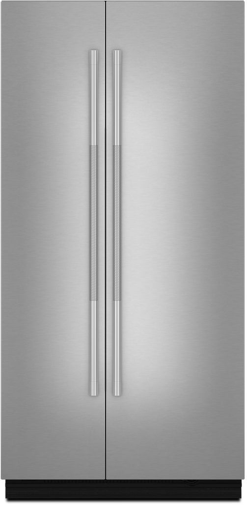 """JennAir RISE™ 42"""" Stainless Steel Fully Integrated Built-In Side-by-Side Refrigerator Panel-Kit-JBSFS42NHL"""