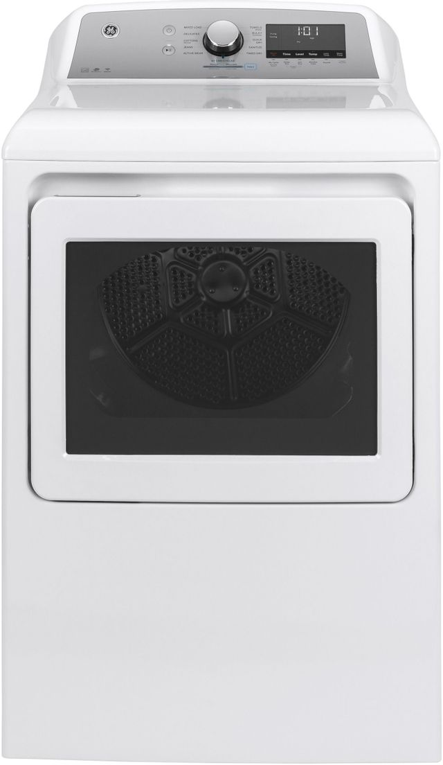GE® 7.4 Cu. Ft. White Front Load Gas Dryer-GTD84GCSNWS-SD