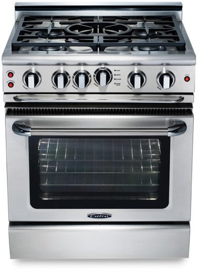 """Capital Precision™ 30"""" Stainless Steel Free Standing Gas Range-GSCR305N"""
