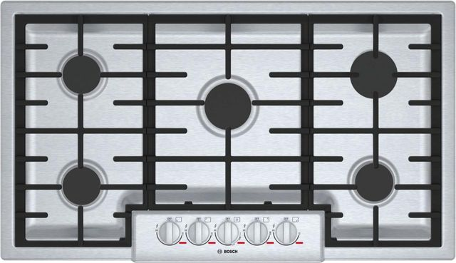 """Bosch Benchmark® Series 37"""" Stainless Steel Gas Cooktop-NGMP656UC"""