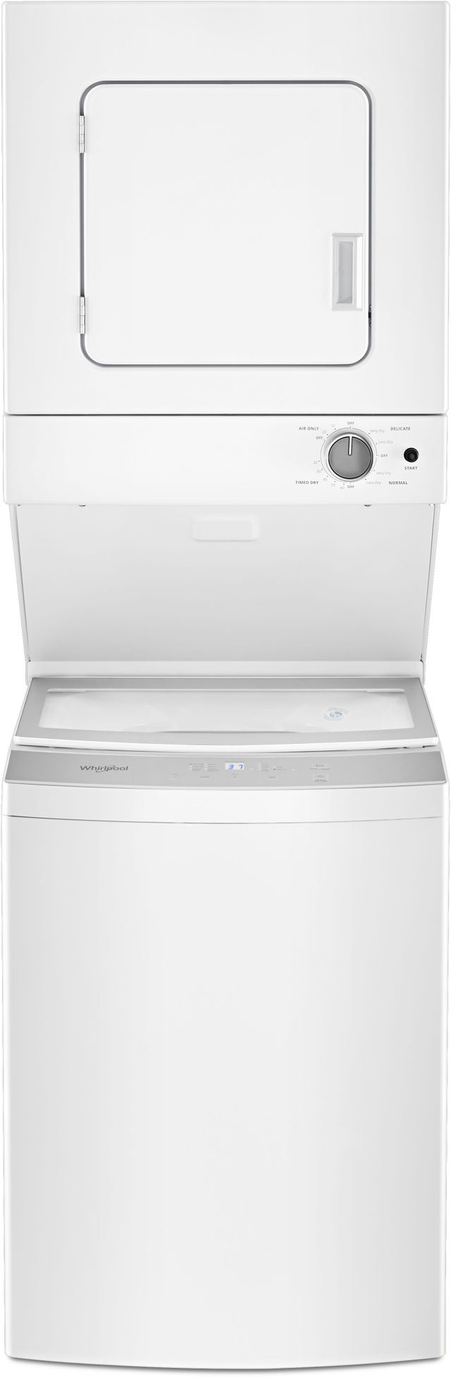 Whirlpool® Electric Stacked Laundry-White-WET4024HW