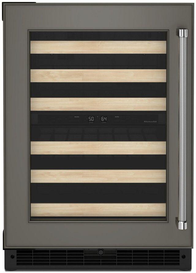 "KitchenAid® 24"" Panel Ready Frame Wine Cooler-KUWL214KPA"