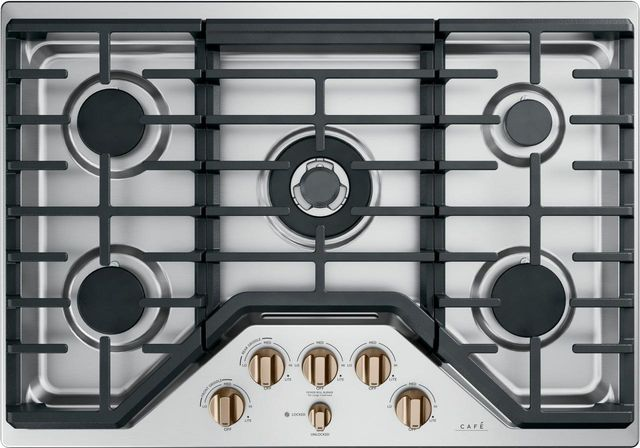 """Café™ 30"""" Stainless Steel Gas Cooktop-CGP95303MS2"""