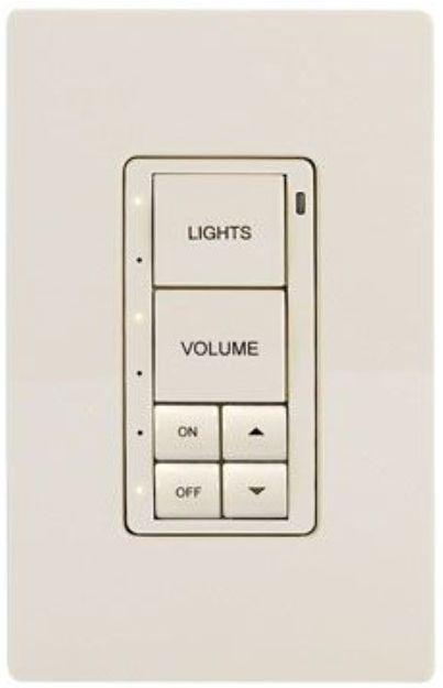 Crestron® Cameo® Almond Textured infiNet EX® 120V Wireless Keypad-INET-CBDEX-230-P-A-T