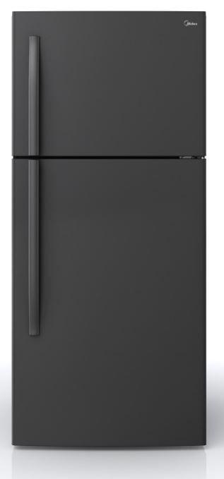Midea® 18 Cu. Ft. Black Top Freezer Refrigerator-WHD-663FWEB1