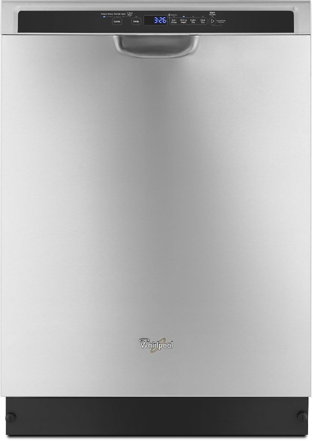 """Whirlpool® 24"""" Built In Dishwasher-Monochromatic Stainless Steel-WDF560SAFM"""