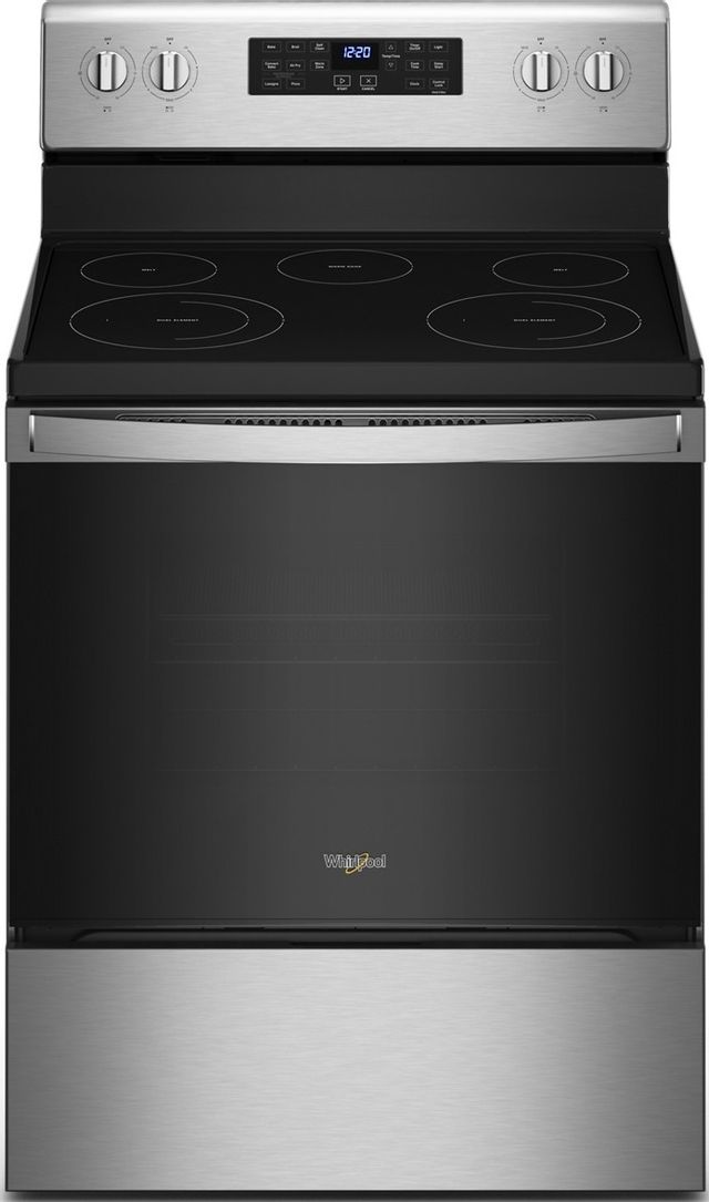 """Whirlpool® 30"""" Stainless Steel Free Standing Electric Range-WFE535S0LS"""