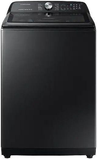 Samsung 5.0 Fingerprint Resistant Black Stainless Steel Top Load Washer-WA50R5400AV