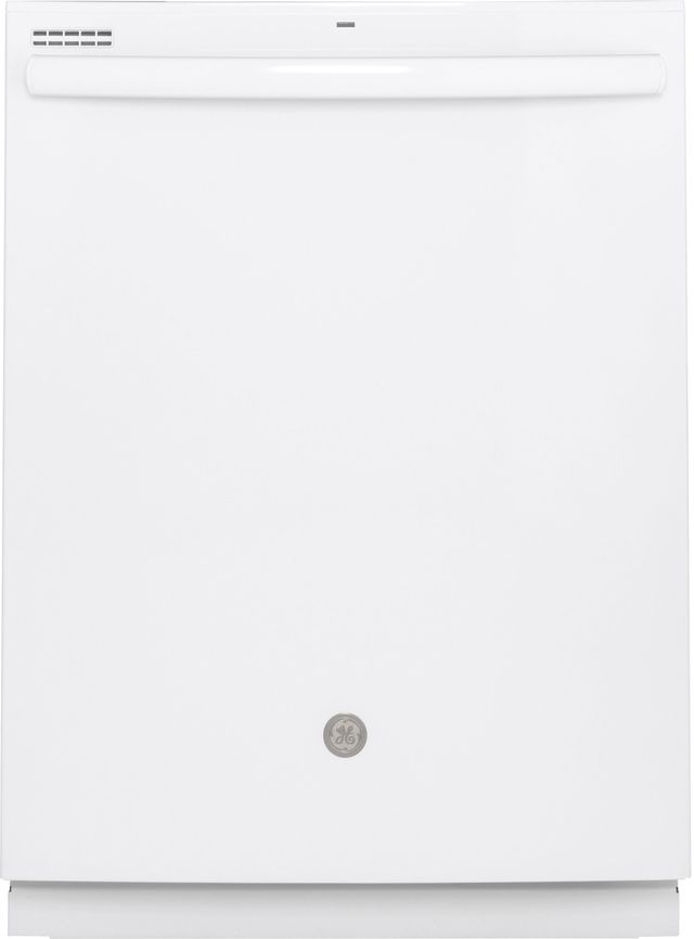 """GE® 24"""" Built In Dishwasher-White-GDT605PGMWW"""