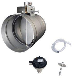 "Zephyr 6"" Round Universal Make Up Air Damper Kit-MUA006A"