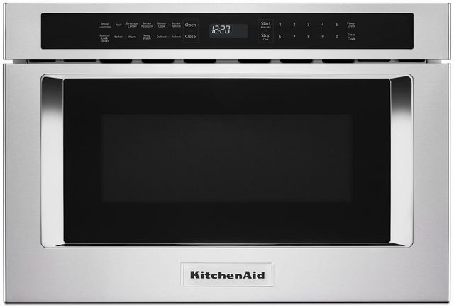 """KitchenAid® 23.88"""" Stainless Steel Under Counter Microwave Oven Drawer-KMBD104GSS"""