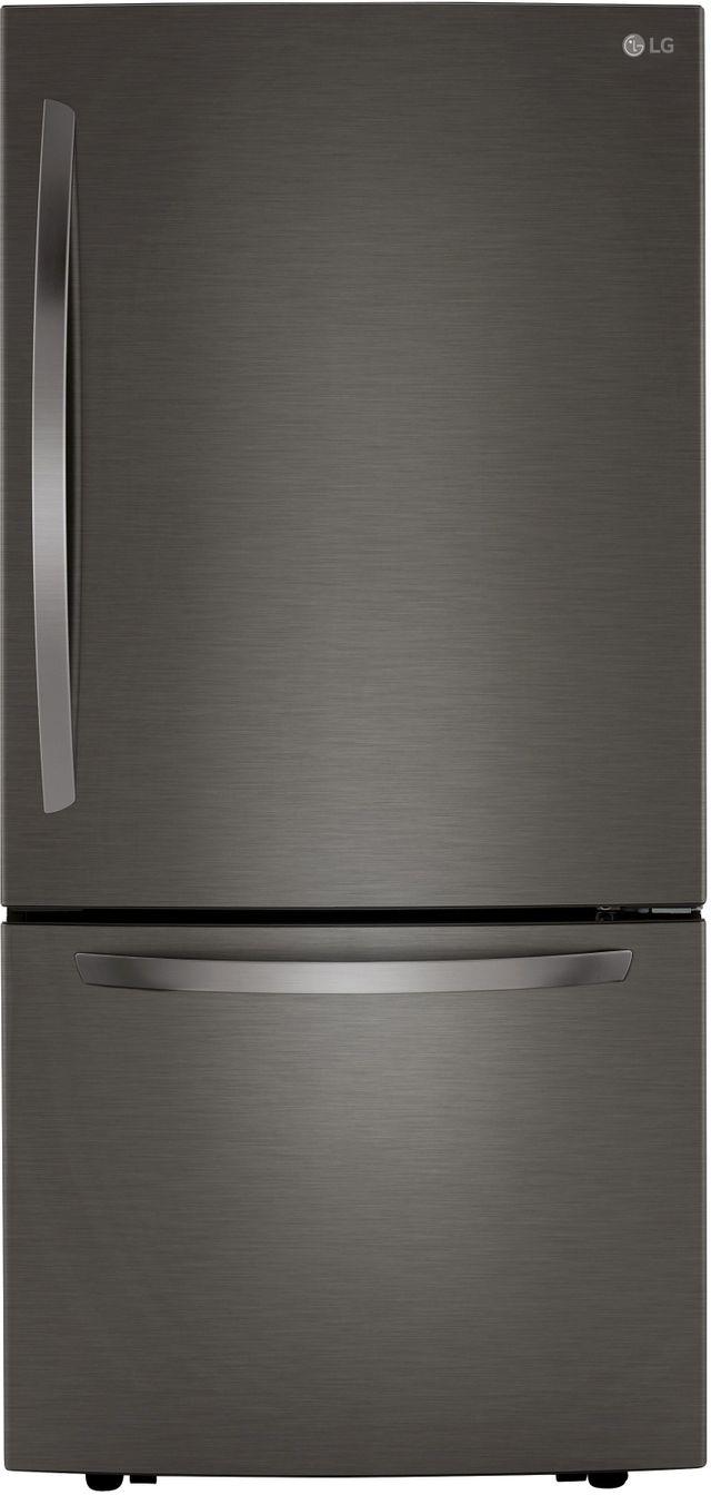 LG 25.5 Cu. Ft. PrintProof™ Black Stainless Steel Bottom Freezer Refrigerator-LRDCS2603D