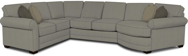 England Furniture Co. Brantley 4 Piece Culpepper Cement/Alvarado Mineral/Braveheart Canvas Sectional-5630-28-22-43-95+8612+8428+8601