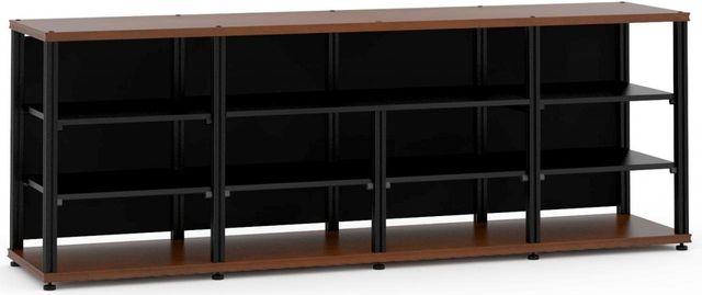Salamander Designs® Synergy Open Center Quad 30 AV Cabinet-Dark Cherry/Black-SQC30C/B