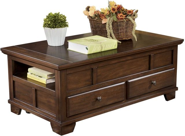 Signature Design by Ashley® Gately Medium Brown Lift Top Cocktail Table-T845-9