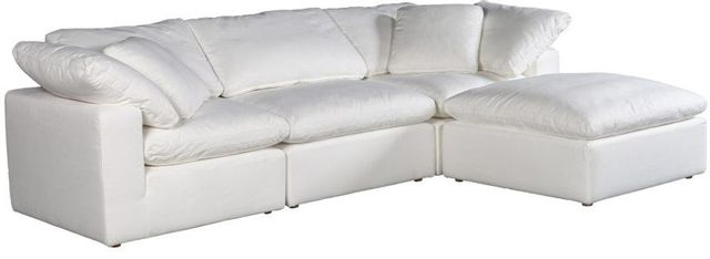 Sectionnel modulaire Clay Lounge en tissu blanc Moe's Home Collections®-YJ-1008-05
