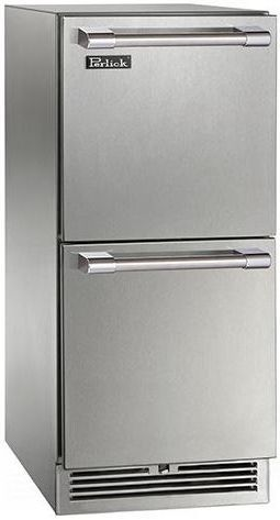 Perlick® Signature Series Outdoor Refrigerator Drawer-Stainless Steel-HP15RO-3-5