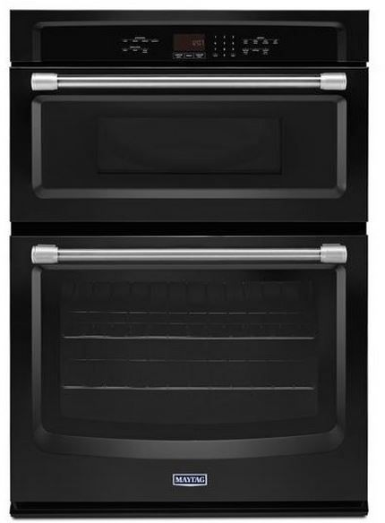 """Maytag 30"""" Electric Oven/Microwave Combination-Black-MMW7730DE"""