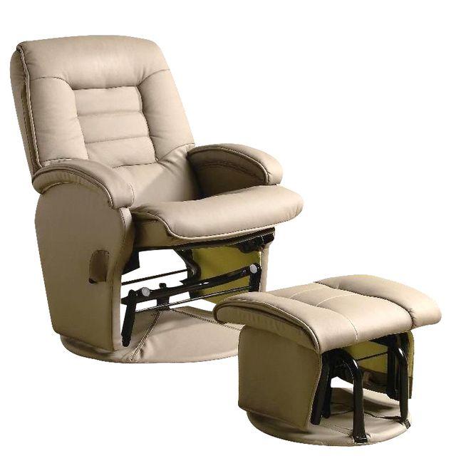 Coaster® 2 Piece Beige Swivel Glider Recliner Set-600166