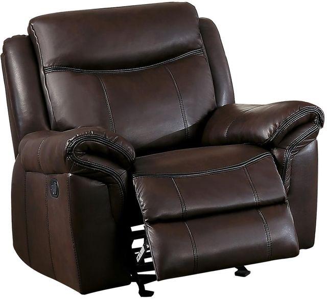 Aram Gilder Reclining Chair-8206BRW-1