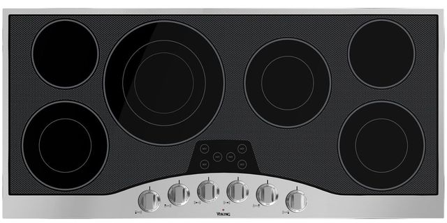 """Viking® Professional Series 45"""" Electric Cooktop-Stainless Steel/Black Glass-RVEC3456BSB"""