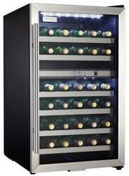 """Danby® 20"""" Wine Cooler-Black with Stainless Steel-DWC114BLSDD"""