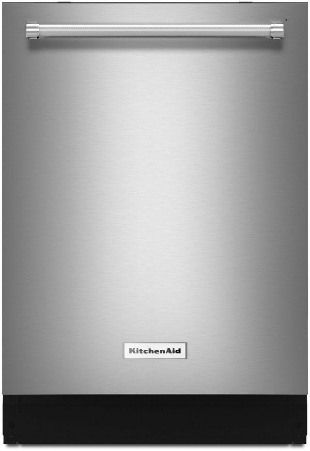 "KitchenAid® 24"" Stainless Steel with PrintShield™ Finish Built In Dishwasher-KDTE304GPS"