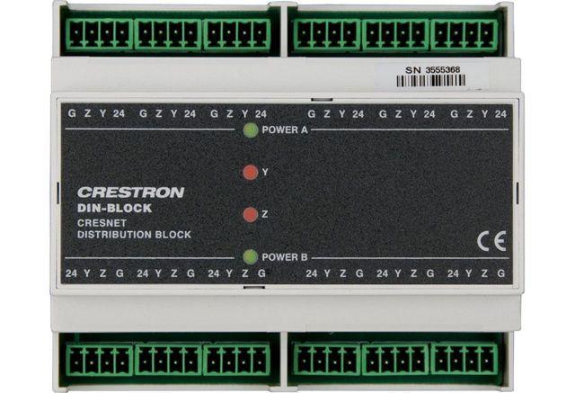 Crestron® DIN Rail Cresnet Distribution Block-DIN-BLOCK