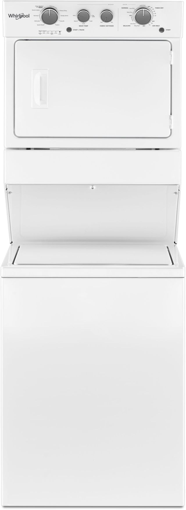 Whirlpool® Electric Long Vent Stacked Laundry-White-WETLV27HW