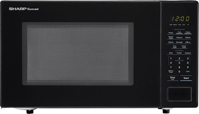 Sharp® Carousel® Countertop Microwave Oven-Black-SMC1131CB