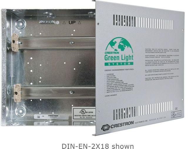 Crestron® Enclosure for DIN Rail Devices-DIN-EN-3X18