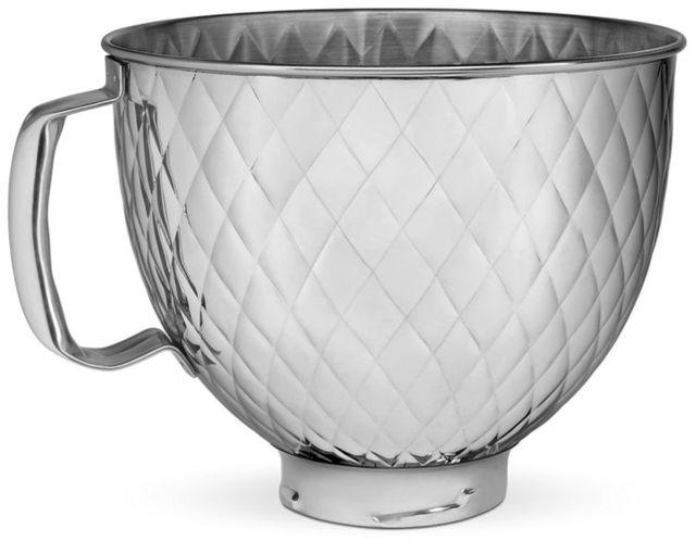 KitchenAid® 5 Quart Quilted Stainless Steel Bowl-KSM5SSBQB