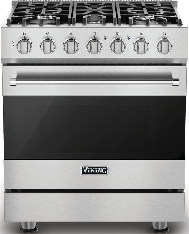 "Viking® 3 Series 30"" Freestanding Gas Range-Stainless Steel-RVGR33025BSS"