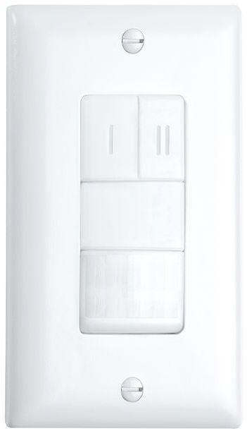 Crestron® STEINEL IR VS 2 Passive Infrared Dual Relay Wall Switch Vacancy Sensor-Light Almond-GLA-IR-VS-2-LA