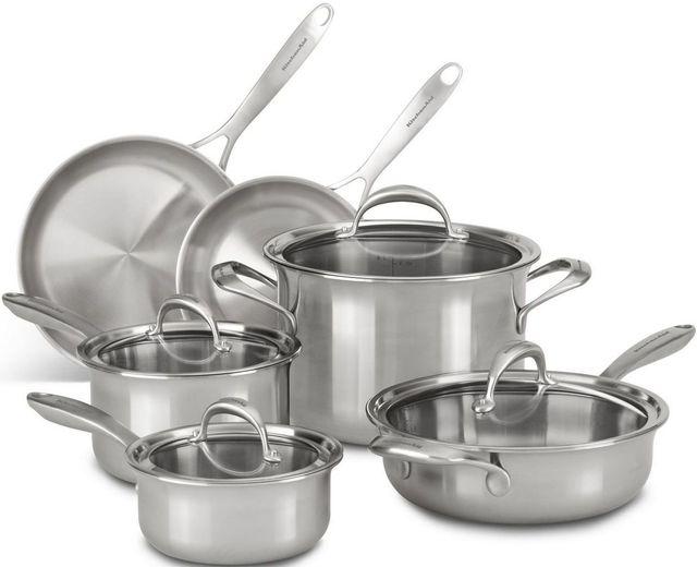 KitchenAid® 10-Piece Stainless Steel Cookware Sets-KC2CS10ST