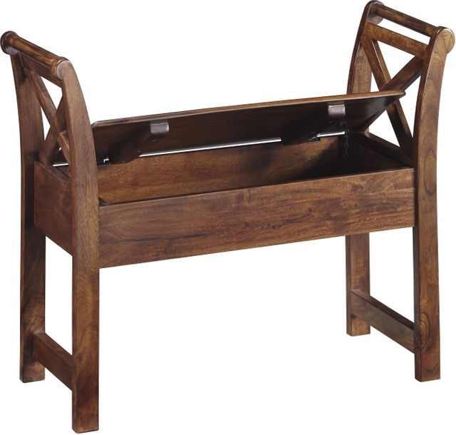 Signature Design by Ashley® Abbonto Warm Brown Accent Bench-T800-111