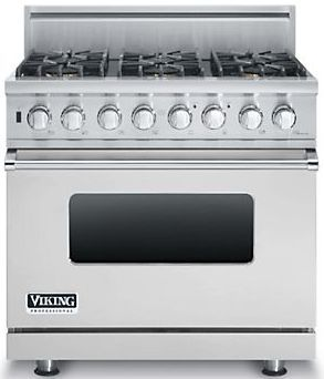 """Viking® Professional 5 Series 36"""" Pro Style Dual Fuel Range-Stainless Steel-VDSC5364GSS"""